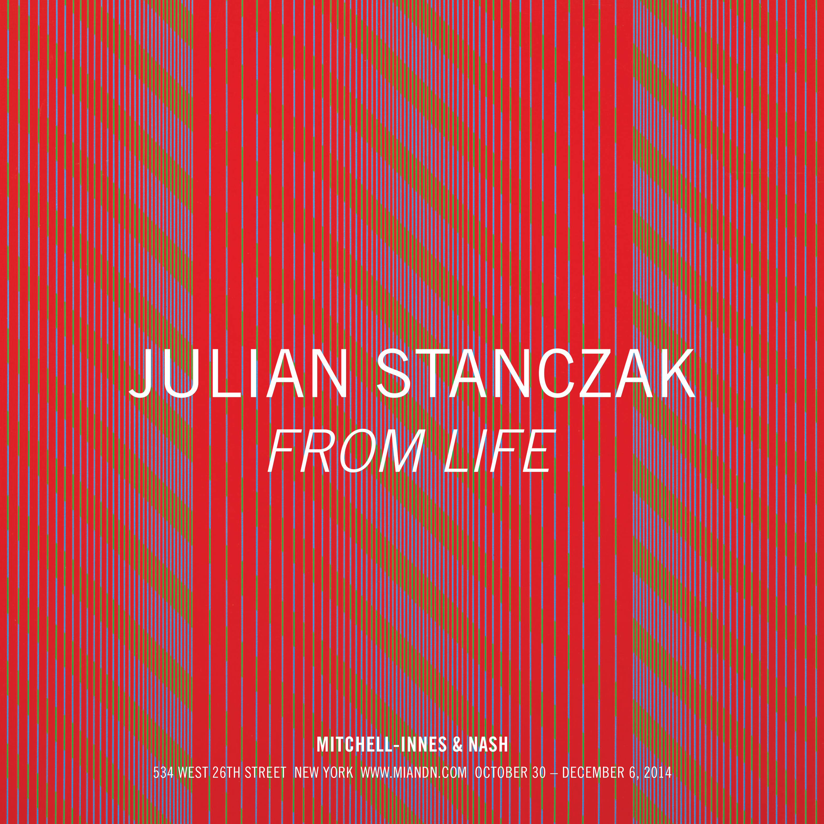 From the Mitchell-Innes show Julian Stanczak: from Life