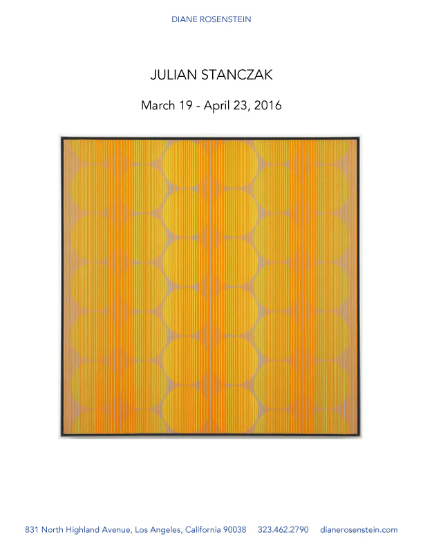 Advertisement for 'Julian Stanczak' for Diane Rosenstein Gallery